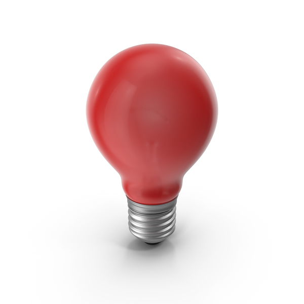 Lightbulb Red Glossy PNG & PSD Images