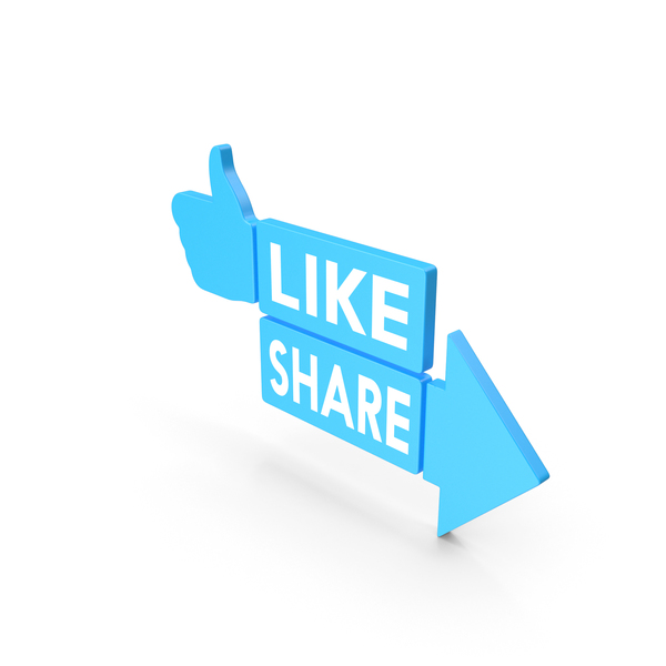 Like And Share Blue Web Icon PNG & PSD Images