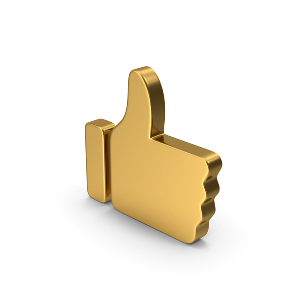 Computer Icon: Like Gold PNG & PSD Images