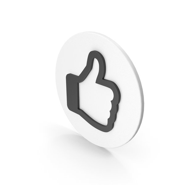 Thumbs Up: Like Icon Black PNG & PSD Images