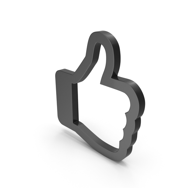 Computer Icon: Like Symbol Black PNG & PSD Images