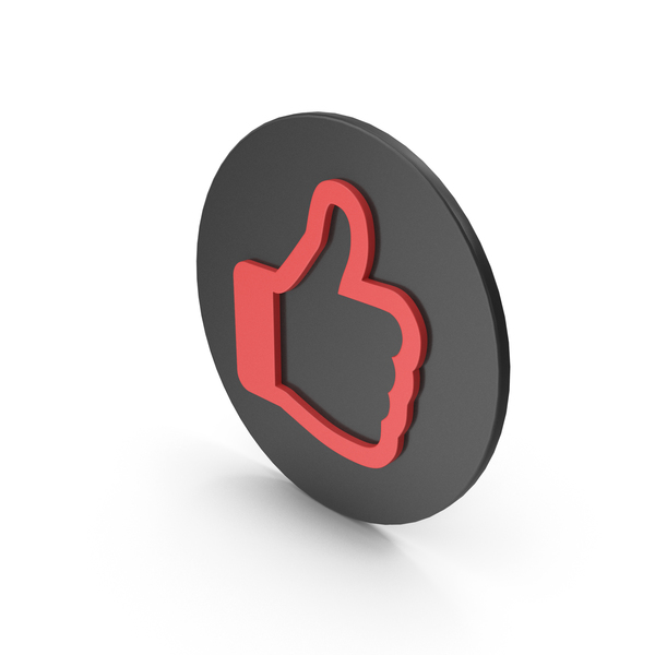 Computer Icon: Like Symbol Black Red PNG & PSD Images