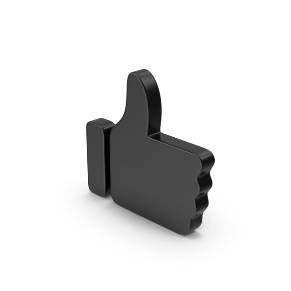 Thumbs Up: Like Symbol Black PNG & PSD Images
