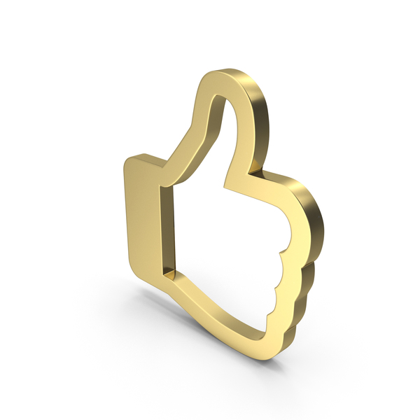 Computer Icon: Like Symbol Gold PNG & PSD Images