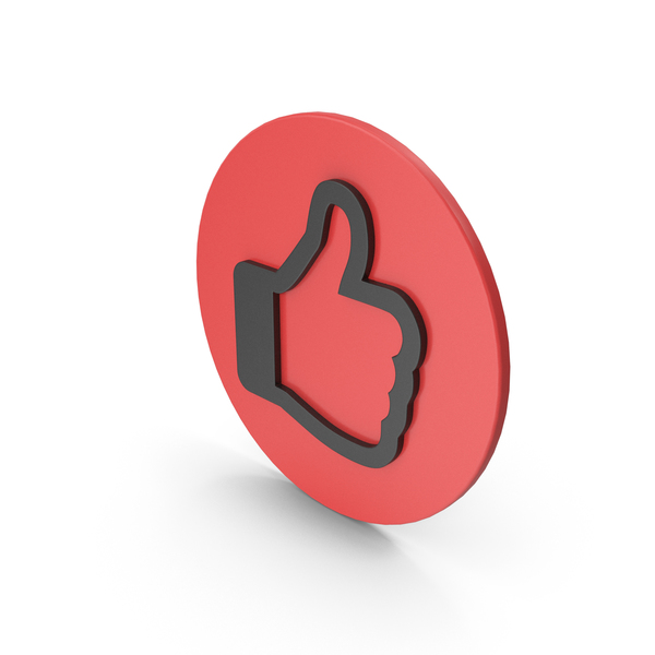 Computer Icon: Like Symbol Red Black PNG & PSD Images