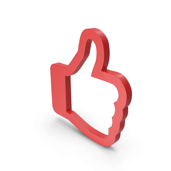 Computer Icon: Like Symbol Red PNG & PSD Images