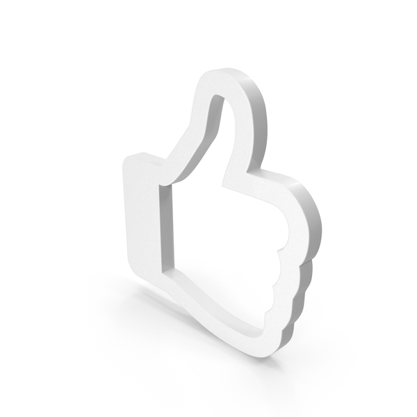 Computer Icon: Like Symbol White PNG & PSD Images