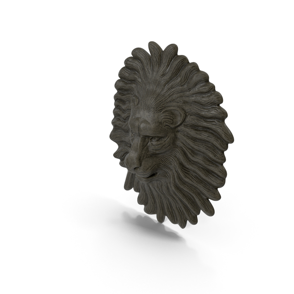 Lion Head Stone Relief PNG & PSD Images