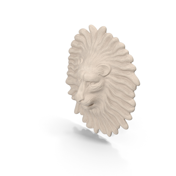 Lion Wall Sculpture PNG & PSD Images
