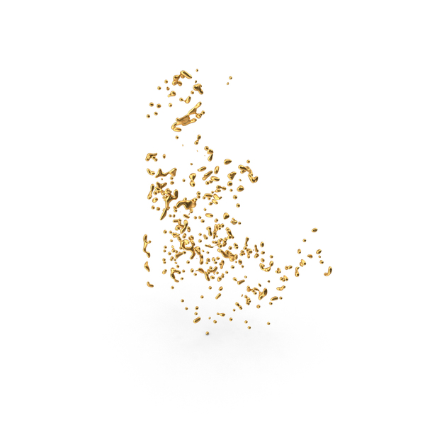 Liquid Gold Drops PNG & PSD Images