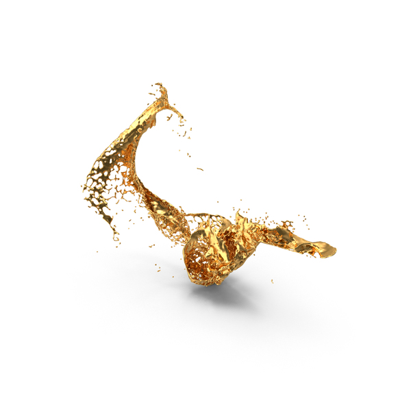 Liquid Gold Splash PNG & PSD Images