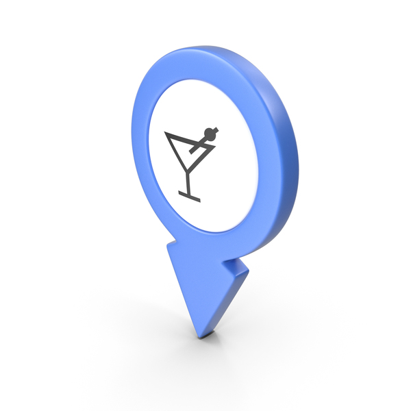 Computer Icon: Location Sign Bar Blue PNG & PSD Images