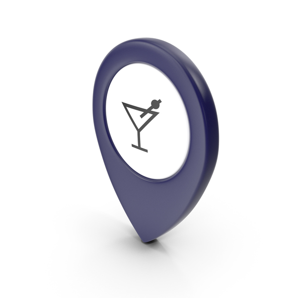 Computer Icon: Location Sign Bar Dark Blue PNG & PSD Images