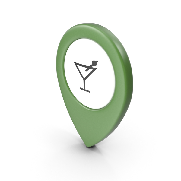 Computer Icon: Location Sign Bar Green PNG & PSD Images