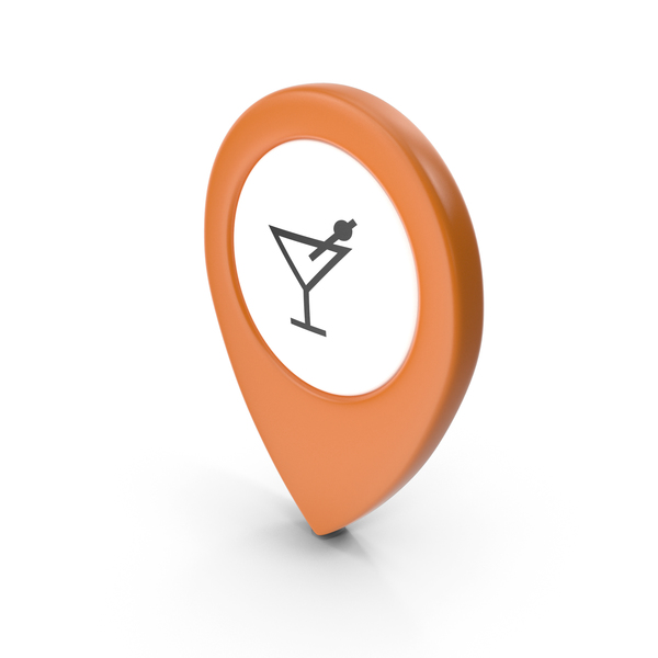 Computer Icon: Location Sign Bar Orange 42 PNG & PSD Images