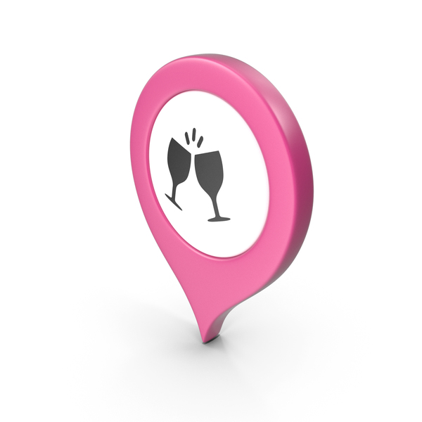 Computer Icon: Location Sign Bar Pink PNG & PSD Images