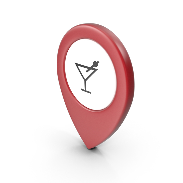 Computer Icon: Location Sign Bar Red PNG & PSD Images