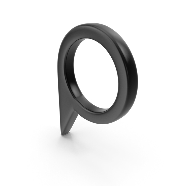 Computer Icon: Location Sign Black PNG & PSD Images