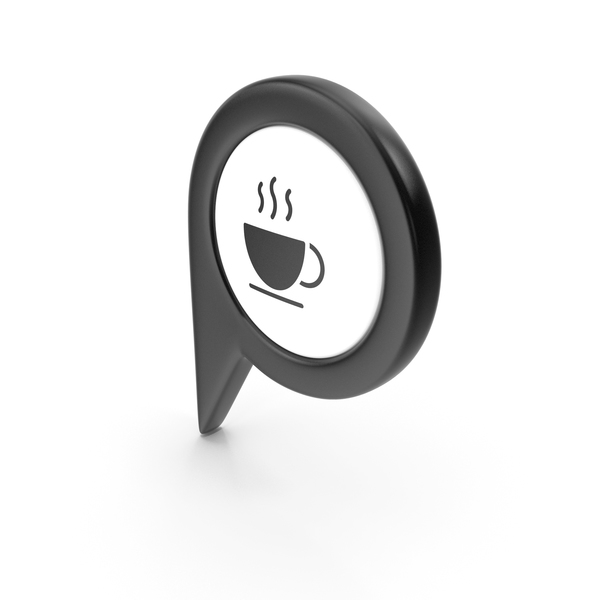 Computer Icon: Location Sign Coffe Black PNG & PSD Images