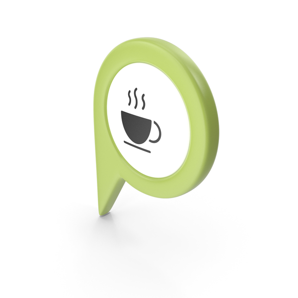 Computer Icon: Location Sign Coffe Green PNG & PSD Images