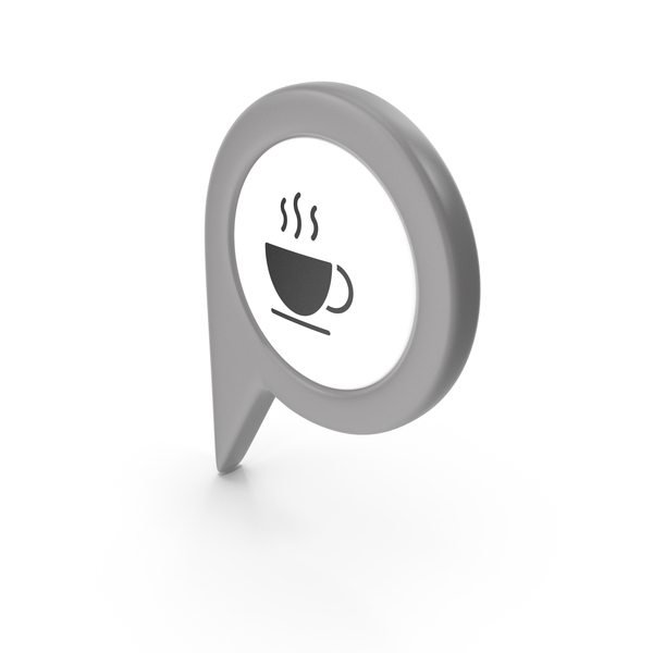 Computer Icon: Location Sign Coffe Grey PNG & PSD Images