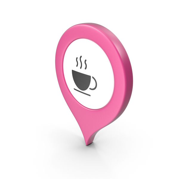 Computer Icon: Location Sign Coffe Pink PNG & PSD Images