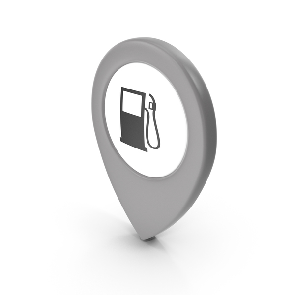 Computer Icon: Location Sign Gas Station Grey PNG & PSD Images