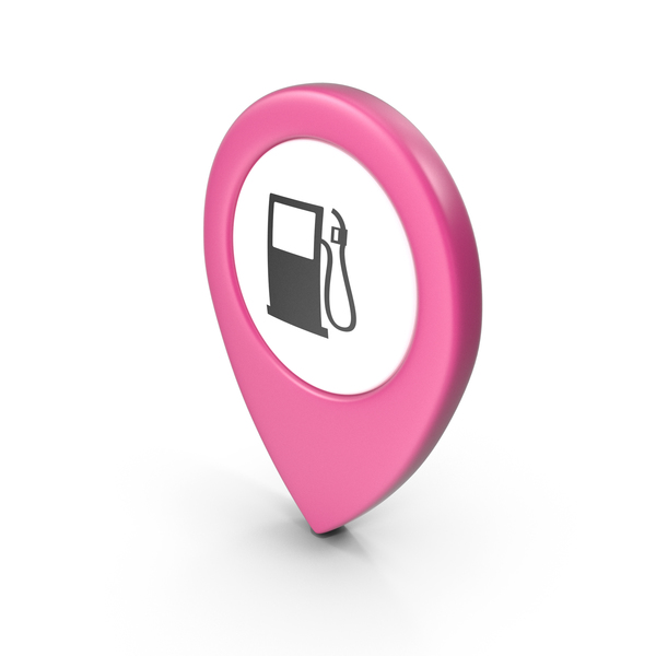 Computer Icon: Location Sign Gas Station Pink PNG & PSD Images