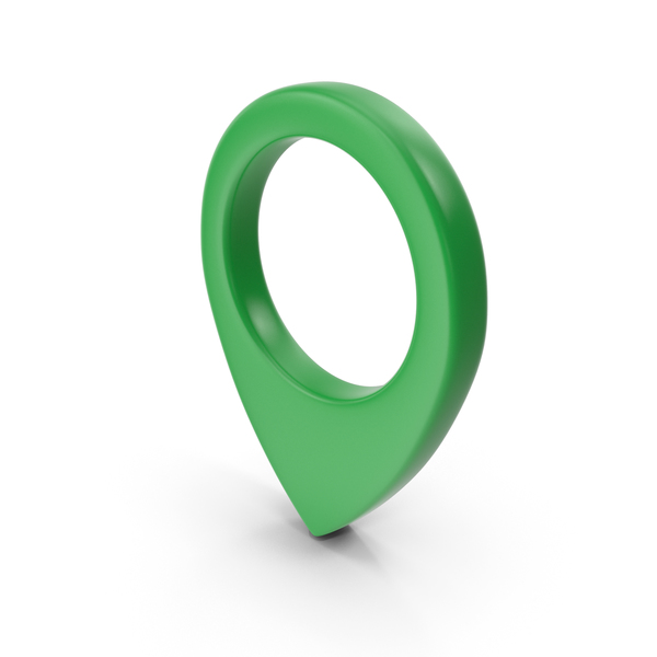 Computer Icon: Location Sign Green PNG & PSD Images