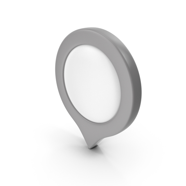 Computer Icon: Location Sign Grey PNG & PSD Images