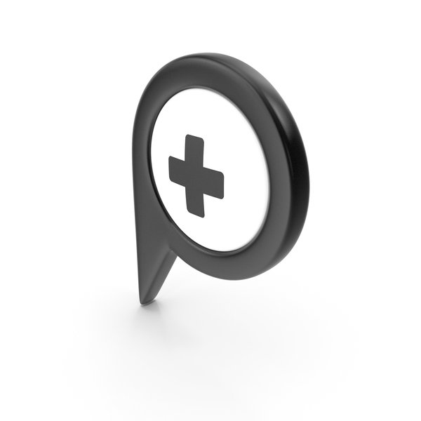 Computer Icon: Location Sign Hospital Black PNG & PSD Images