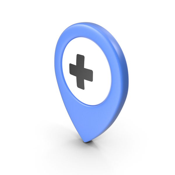 Computer Icon: Location Sign Hospital Blue PNG & PSD Images