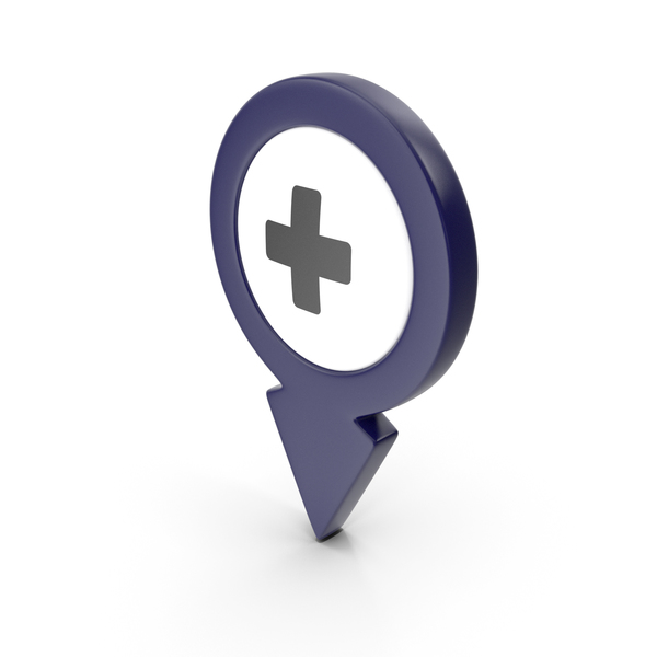 Computer Icon: Location Sign Hospital Dark Blue PNG & PSD Images