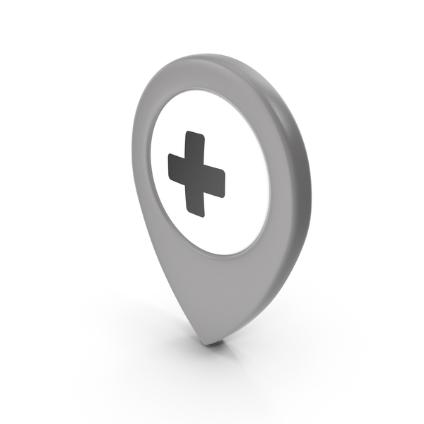 Computer Icon: Location Sign Hospital Grey PNG & PSD Images