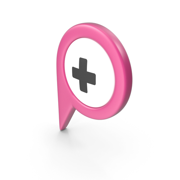 Computer Icon: Location Sign Hospital Pink PNG & PSD Images