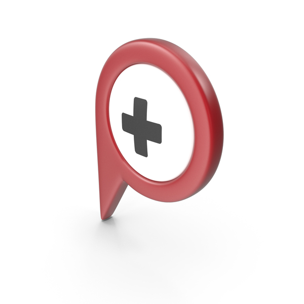 Computer Icon: Location Sign Hospital Red PNG & PSD Images