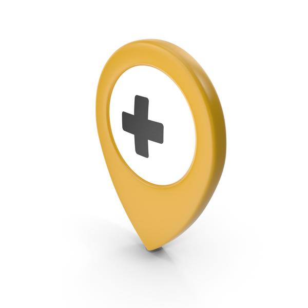 Computer Icon: Location Sign Hospital Yellow PNG & PSD Images