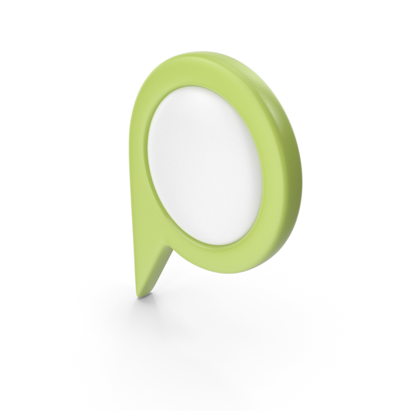 Computer Icon: Location Sign Light Green PNG & PSD Images