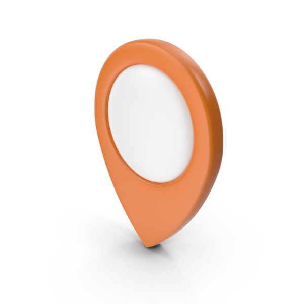 Computer Icon: Location Sign Orange PNG & PSD Images