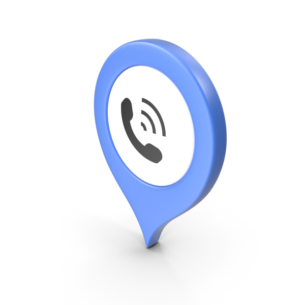 Computer Icon: Location Sign Phone Blue PNG & PSD Images