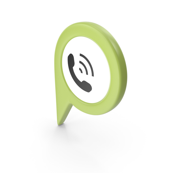 Computer Icon: Location Sign Phone Green PNG & PSD Images