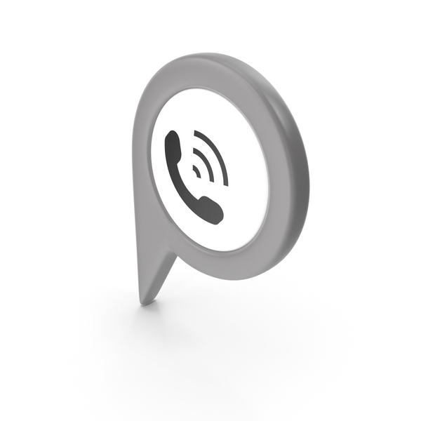 Computer Icon: Location Sign Phone Grey PNG & PSD Images