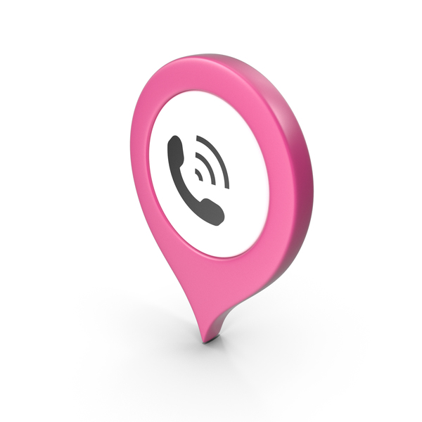 Computer Icon: Location Sign Phone Pink PNG & PSD Images
