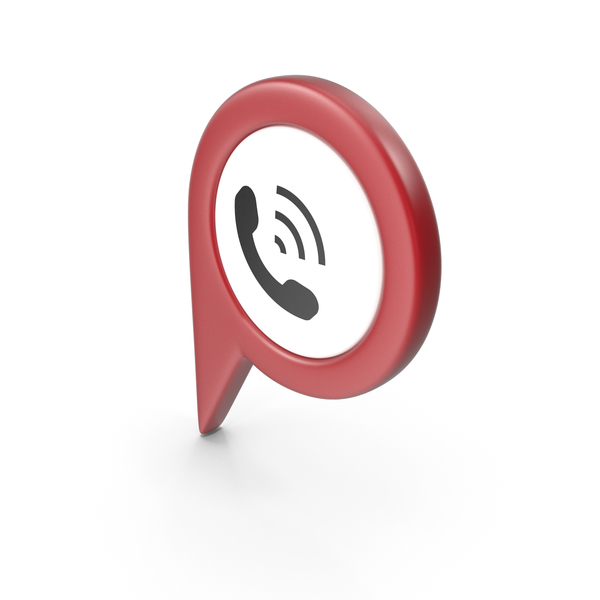 Computer Icon: Location Sign Phone Red PNG & PSD Images