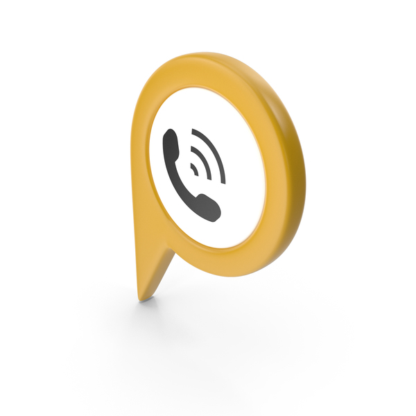 Computer Icon: Location Sign Phone Yellow PNG & PSD Images