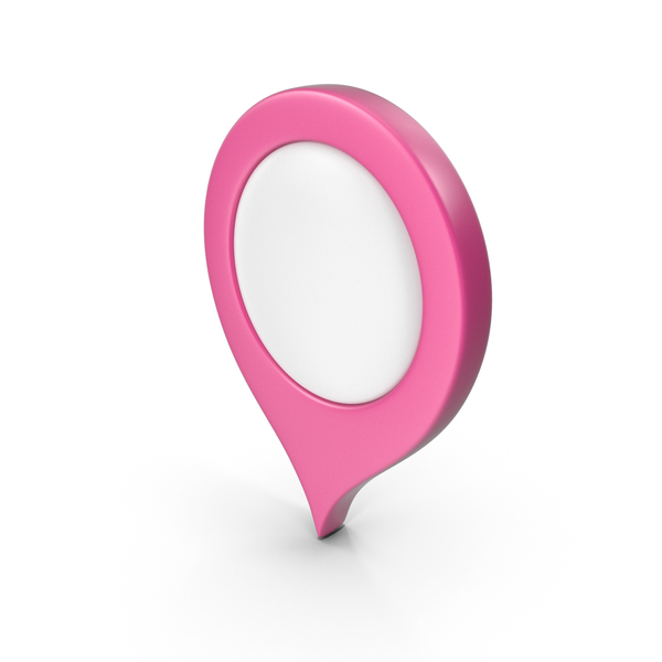 Computer Icon: Location Sign Pink PNG & PSD Images