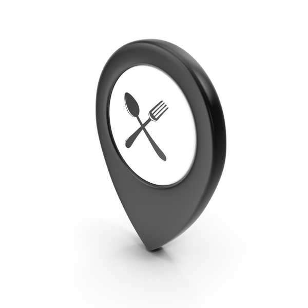 Computer Icon: Location Sign Restaurant Black PNG & PSD Images