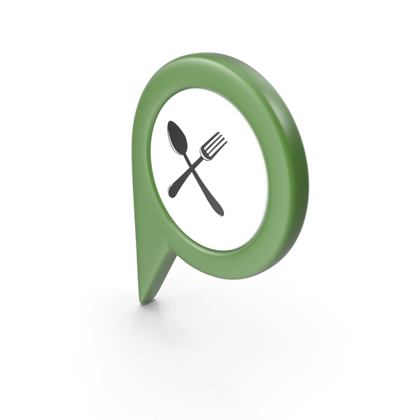 Computer Icon: Location Sign Restaurant Green PNG & PSD Images