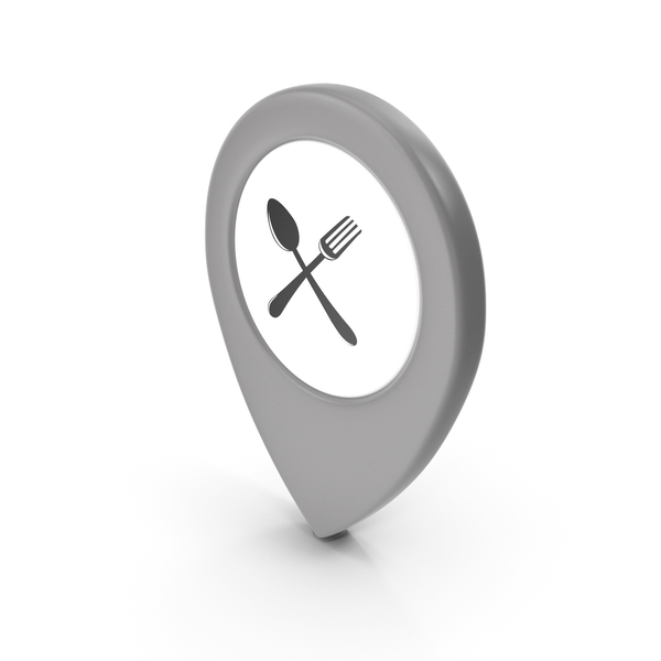 Computer Icon: Location Sign Restaurant Grey PNG & PSD Images