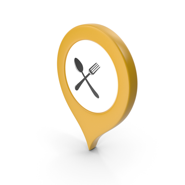 Computer Icon: Location Sign Restaurant Yellow PNG & PSD Images